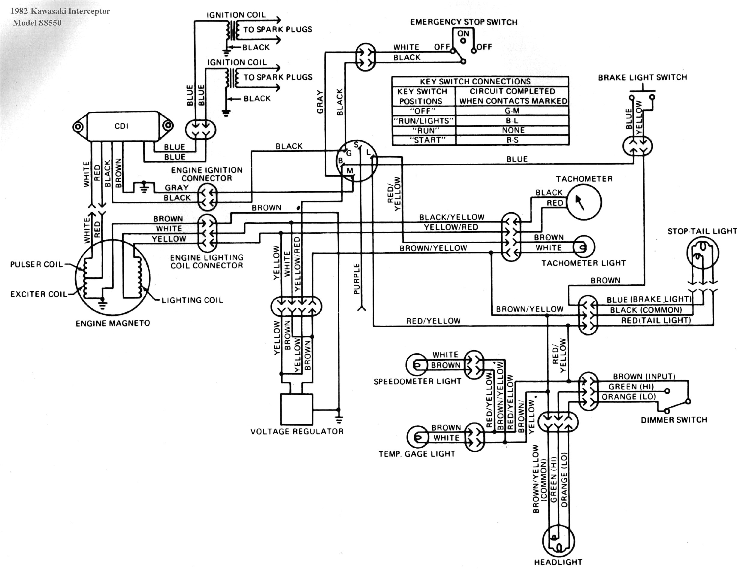 Wire Diagrams 1979 Kawasaki - Schema Wiring Diagrams on